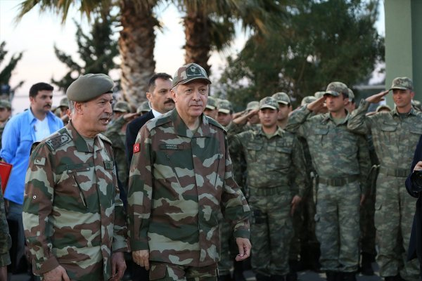 President Erdogan visited border stations in Hatay