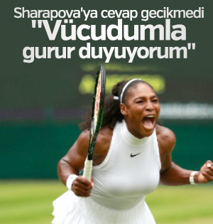 Serena Williams Sharapova'ya cevap verdi